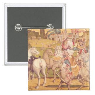 The Cavalcade of the Magi, c.1460 Pinback Button