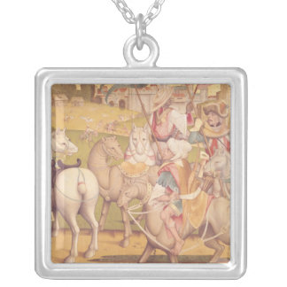 The Cavalcade of the Magi, c.1460 Silver Plated Necklace