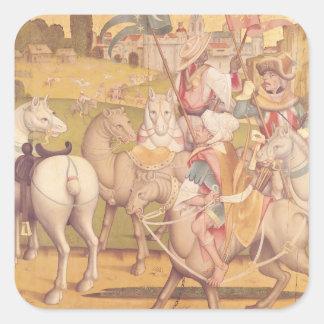 The Cavalcade of the Magi, c.1460 Square Sticker