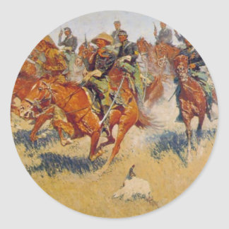 The Cavalry Charge Classic Round Sticker