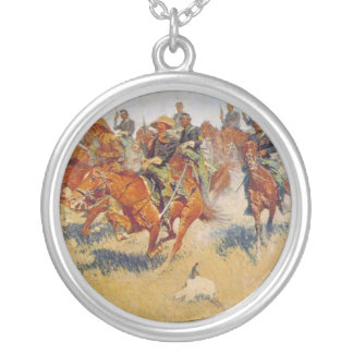 The Cavalry Charge Round Pendant Necklace
