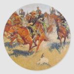 The Cavalry Charge Round Stickers