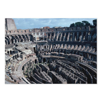 The cavernous interior of the ancient Roman Coloss 5x7 Paper Invitation Card