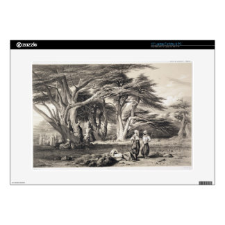 The Cedars of Lebanon, engraved by Freeman (sepia Decal For Laptop