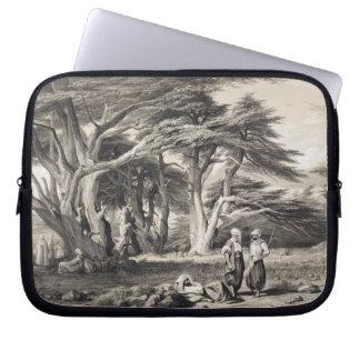 The Cedars of Lebanon, engraved by Freeman (sepia Laptop Sleeve