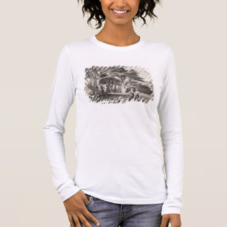 The Cedars of Lebanon, engraved by Freeman (sepia Long Sleeve T-Shirt