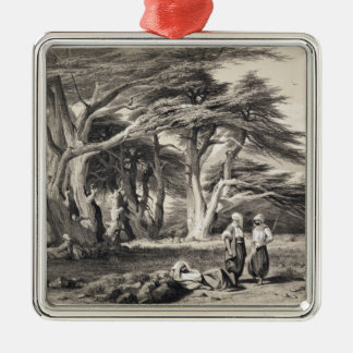 The Cedars of Lebanon, engraved by Freeman (sepia Metal Ornament