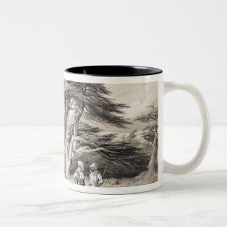 The Cedars of Lebanon, engraved by Freeman (sepia Two-Tone Coffee Mug