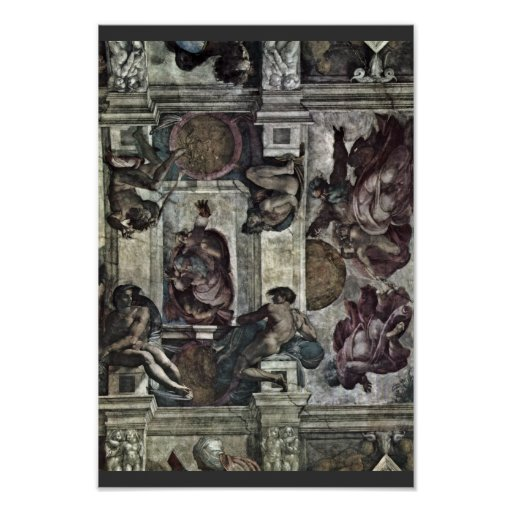 The Ceiling Fresco In The Sistine Chapel Genesis M Poster