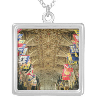 The Ceiling of St. George's Chapel, Windsor Silver Plated Necklace