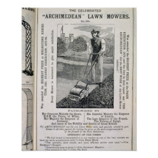 The Celebrated 'Archimedean' Lawn Mowers, from the Poster