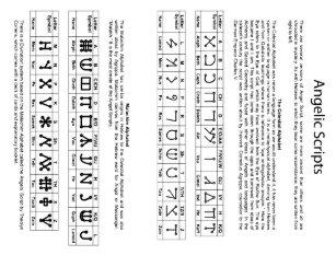 Angelic Script Alphabet Photos Alphabet Collections