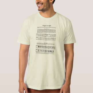 The Celestial Alphabet Angelic Script Chart T-Shirt