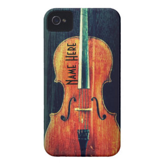The Cello Cool Grunge/Personalized iPhone 4 Case