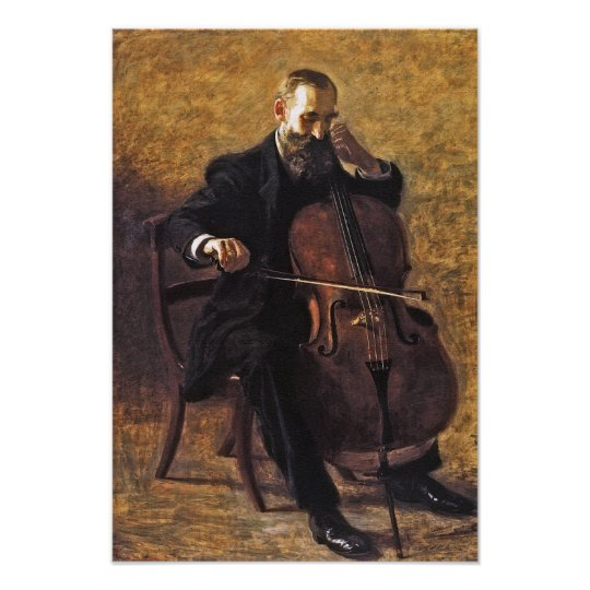 The Cello Player by Thomas Eakins Poster