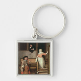 The Cello Player, c.1700 (oil on canvas) Keychain