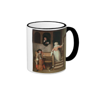 The Cello Player, c.1700 (oil on canvas) Ringer Coffee Mug