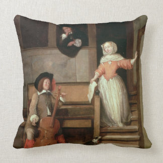 The Cello Player, c.1700 (oil on canvas) Throw Pillow