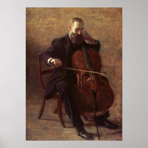 The Cello Player Poster