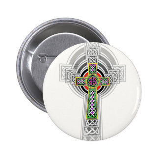 The Celtic Cross. Pinback Buttons