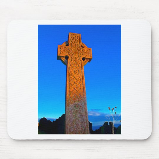 The Celtic Cross Mouse Pad