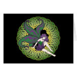 The Celtic fairy Nightshade Greeting Cards, Black Card