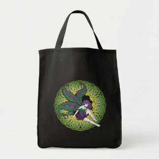 The Celtic fairy, Nightshade tote bags