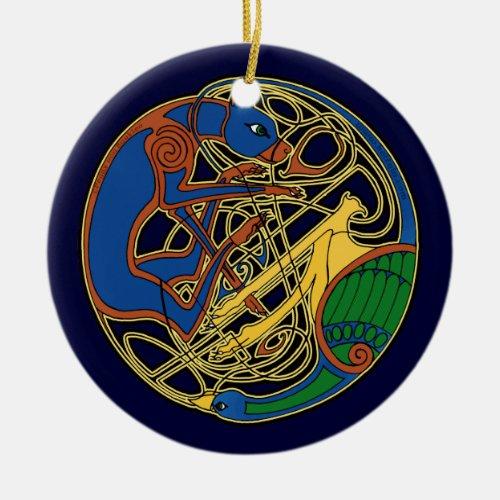The Celtic Hound & Bird Ornament