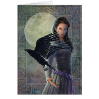 The Celtic Raven. Greeting Card