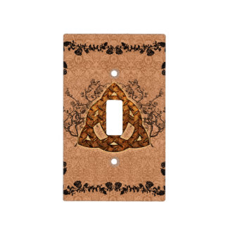The celtic sign with roses light switch cover