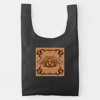 The celtic sign with roses reusable bag