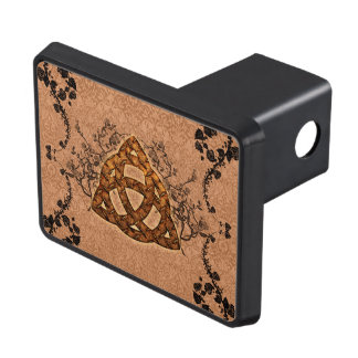 The celtic sign with roses trailer hitch cover