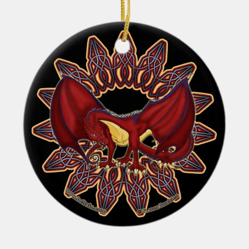 The Celtic Welsh Dragon Ornaments 1