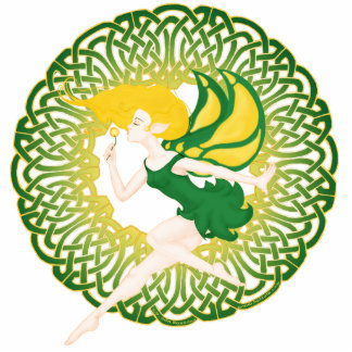 The Celtic Wish fairy acrylic sculpture keychains