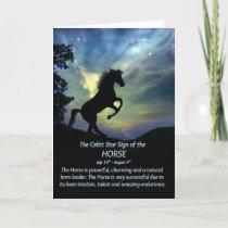 The Celtic Zodiac Sign of the Horse, Leo Card