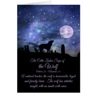 The Celtic Zodiac Sign of the Wolf, Scorpio Card