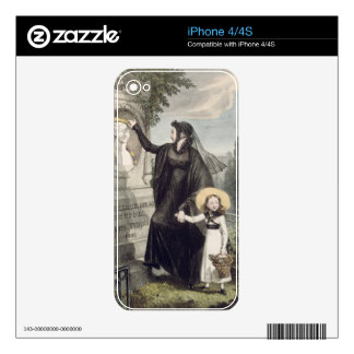 The Cemetery of Pere Lachaise, printed by Charles Decals For iPhone 4