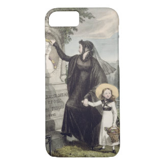 The Cemetery of Pere Lachaise, printed by Charles iPhone 8/7 Case