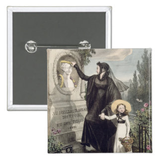 The Cemetery of Pere Lachaise, printed by Charles Pinback Button