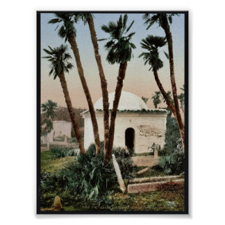 The cemetery, with chapel, Algiers, Algeria vintag Posters