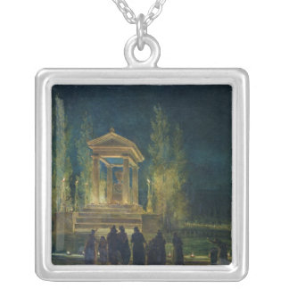 The Cenotaph of Jean Jacques Rousseau Silver Plated Necklace