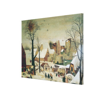 The Census at Bethlehem Canvas Print
