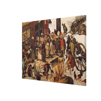 The Census at Bethlehem, detail of census office Canvas Print