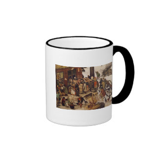 The Census at Bethlehem, detail of census office Coffee Mugs