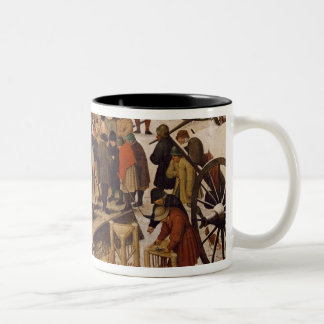 The Census at Bethlehem, detail of census office Mugs