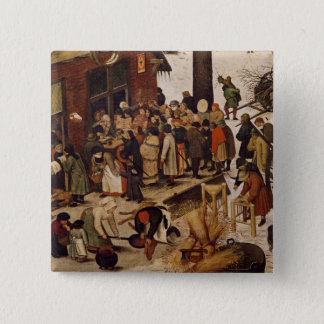 The Census at Bethlehem, detail of census office Pinback Button