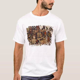 The Census at Bethlehem, detail of census office T-Shirt