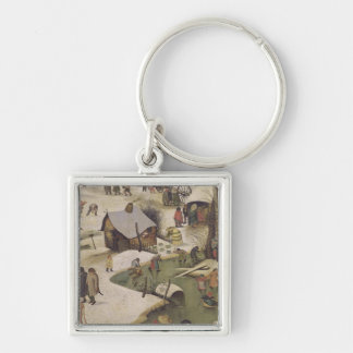 The Census at Bethlehem Silver-Colored Square Keychain