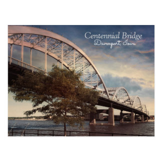 The Centennial Bridge in Davenport, Iowa Postcard