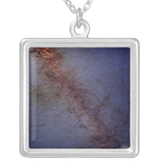 The center of our Milky Way Galaxy Silver Plated Necklace